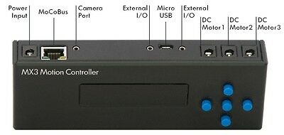 MX3 DC motor motion controller, controls upto 3 motors at once