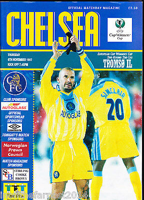 1997/98 CHELSEA V TROMSO IL 06-11-1997 Cup Winners Cup 2nd Rnd 2nd Leg