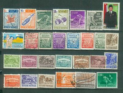 Lot Briefmarken aus Indonesien