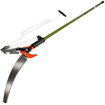 Telescopic branch shears reach pruner extendable pruning tree saw garden tool