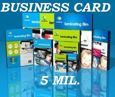 Business Card 500 Piece Quality Laminating Pouches 5 mil  2-1/4 x 3-3/4