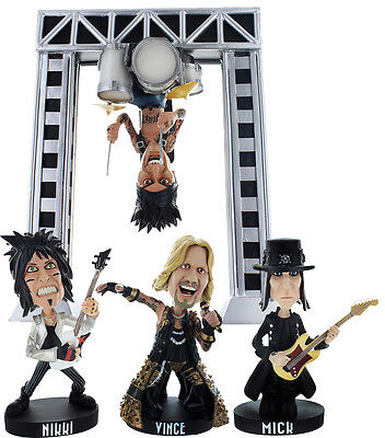 "Motley Crue 8.5"" All Bad Things Must End Exclusive Bobblehead Box Set Drum Rig"