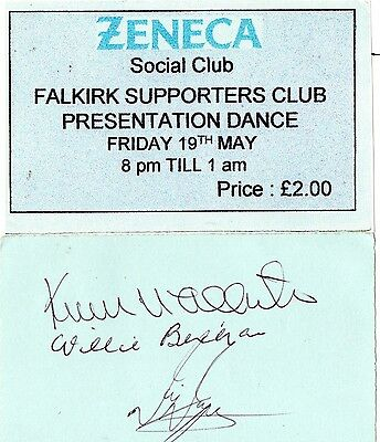 Falkirk Fc Signed Supporters Club Presentation Tickets