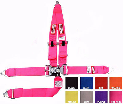 """Sfi 16.1 Racing Harness 5 Point V Roll Bar Mount 3"""" Latch Pink Any Color"""