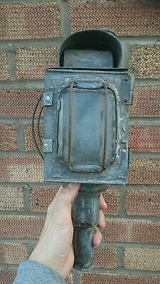old Railway carriage lamp