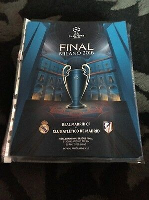 european cup final programme 2016 Real Madrid V Athletico Madrid