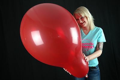 "5 x Qualatex 24"" Riesen-Luftballons KRISTALL-ROT/CRYSTAL-RED (RUBY RED)"