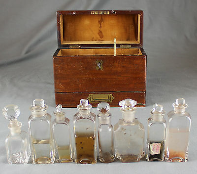 19th Century Mahogany Military Campaign Travelling apothecary Medical Box