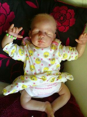 Gorgeous Realistic Blonde Reborn Baby Girl Doll
