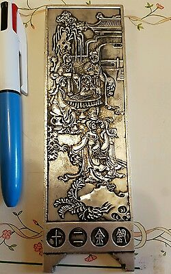 Antique Chinese white metal Scroll weight