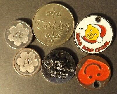 Mixed Tokens 6 Tokens Including Teddys And 2 Marked At £2