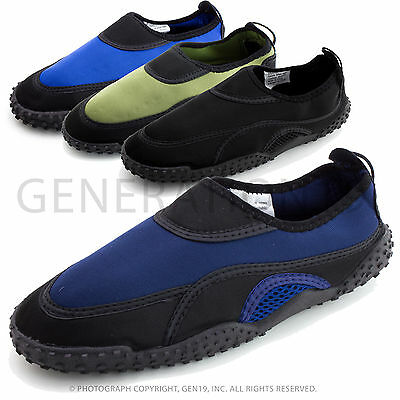 Wave Men's Outdoor Beach Pool Water Sports Aqua Water Shoes M1189 (Adults)