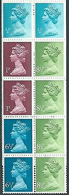 Stamps Gb Booklet Pane Sg X841S Complete Mnh