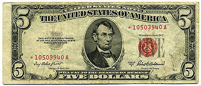1953A United States Note (Ltn) $5.00 Star-A (2 Available On Choice)