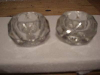 Pair of cut glass table salts