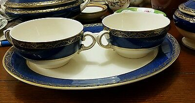 Antique Wedgwood and Co Dish and 2 loving cups c1910