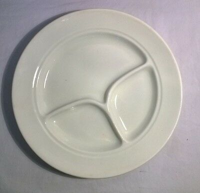 SHENANGO NEW CASTLE, PA CHINA Divided White  Plate Vintage Platter Stamped