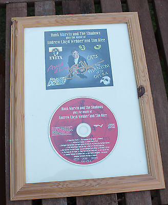 Hank Marvin The Shadows Signed Cd Framed. Rare. Stunning