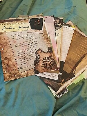 9x12 Supernatural ConQuest hunter's journal scrapbook pages new condition