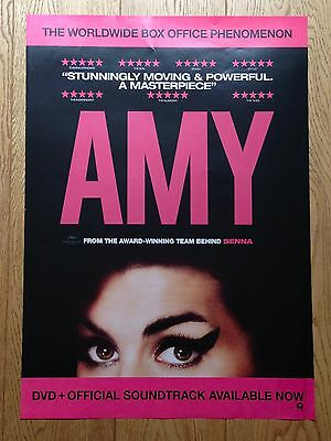 AMY (2015) The Film Movie DVD PROMOTIONAL POSTER Amy Winehouse Documentary