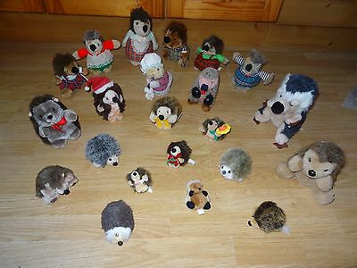 Bundle Of 22 Large & Small Plush HEDGEHOGS Soft Toys 7.5 ins High max