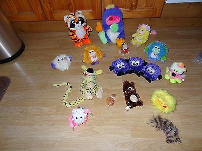 Bundle Of 17 x Plush CUDDLY FURRY CREATURES & MONSTERS Soft Toys 12 ins High max