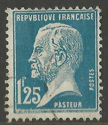 France Stamp 1925-1926 Louis Pasteur 1.25f Blue Very Fine Used