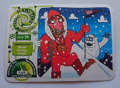 Yoyo Bear's Time Travel Card Stop 76 - Mount Everest - First Version - Red Stars