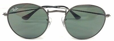 New Ray Ban Round RB3447 029 Matte Gunmetal / Crystal Lens 50mm Sunglasses