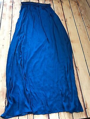 "Zara Basic Women's Blue Slip Full Length Size M 40"" Long"