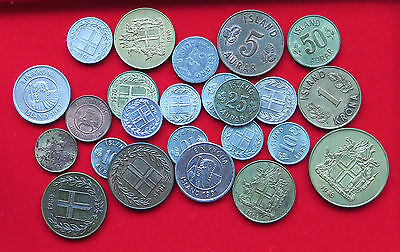 COLLECTION LOT ICELAND 24pc 78g #xxk 025