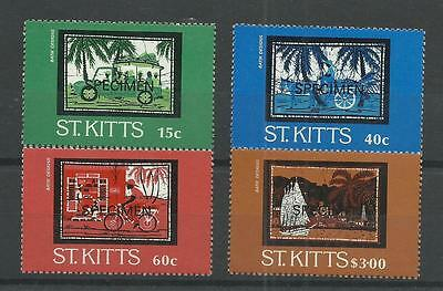 ST KITTS 1985  Batik Designs   Overprinted Specimen   umm / mnh set