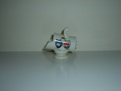 Vintage China Gemma Crested Ware Coal Scuttle 'city Of Oxford' - Exc. Cond.