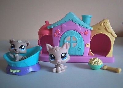 Littlest Pet Shop  Dog And Puppy With House And More