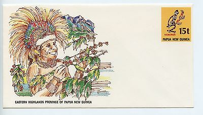 Papua New Guinea postal stationery envelope unused (K872)