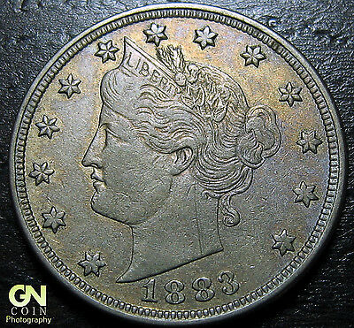 1883 NO CENTS Liberty V Nickel  --  MAKE US AN OFFER!  #Y5505