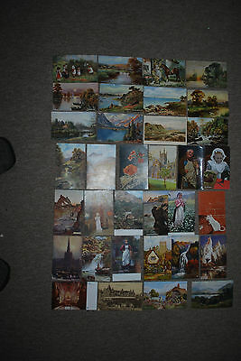 Vintage Job Lot Of Tuck's Oilette's & Other's Postcards Early 1900's Onwards