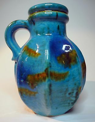Carstens Tönnieshof Blue and Green Vase 7837-15 Fat Lava West German Pottery