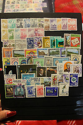 Costa Rica Large Collection Of Mint & Used Stamps ~Many Better~~1863-1980
