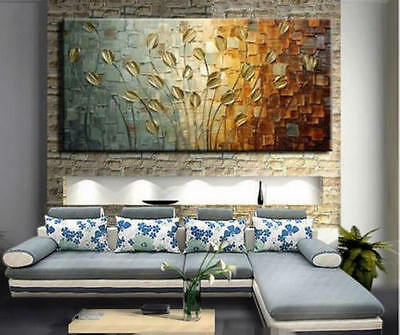 MODERN ABSTRACT HUGE WALL ART OIL PAINTING ON CANVAS-Knife tree (no framed)