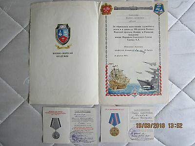 Rare Charter. Marine Military Academy of the USSR, 1977. Signature Admiral.
