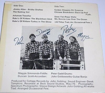 """THE OCCASIONAL FEW The Occasional Few (RARE Signed 1976 UK 9-track 7"""" vinyl EP)"""