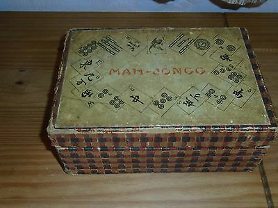 Vintage Mah Jongg Game .bamboo. Chad Valley. Complete. 144 Tiles. Instructions
