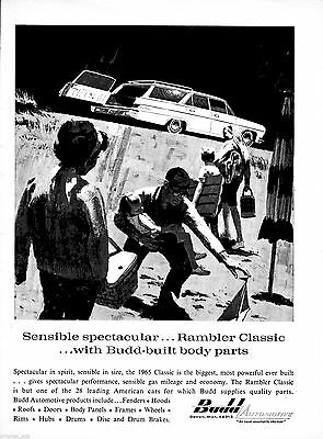 1965 Rambler Classic Station Wagon-Original Magazine Ad-Detroit Michigan-Vehicle