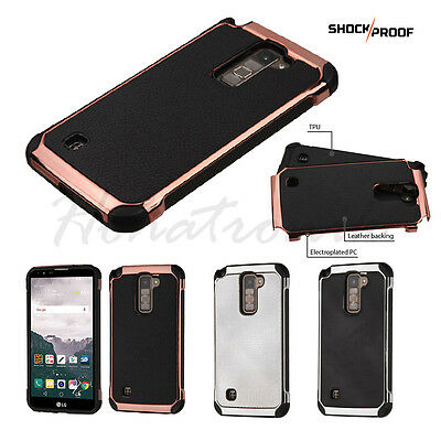 For LG G Stylo 2 PLUS Hybrid Tuff Rubber Leather ShockProof Dual Hard Case Cover