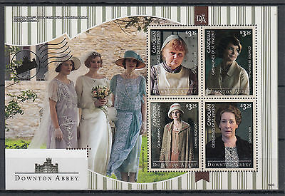 Canouan Gren St Vincent 2014 MNH Downton Abbey 4v M/S I Crawley Sisters Stamps
