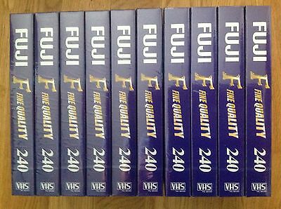 New VHS Blank Tape X 10 Fujifilm Fine Quality 240 4 Hours