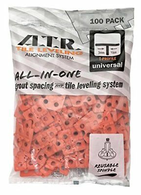 NEW ATR Tile Leveling Alignment System T Shape Spacer Floors and Walls 3mm 100p