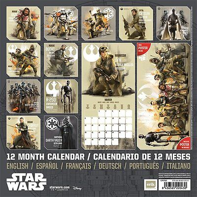 Star Wars Rogue One Official Calendar 2017 (Free Poster)