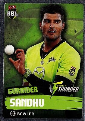 2015/16 CA & BBL Cricket Silver Parallel 179 Gurinder Sandhu Tap N Play MINT!